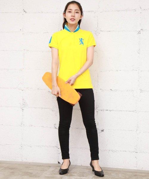 GIORDANOL(ジョルダーノ(レディース))/【ライクラ素材使用】3Dライオン刺繍ポロシャツ/GD18SS05318202_img12
