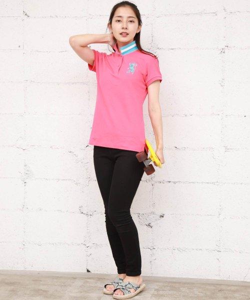 GIORDANOL(ジョルダーノ(レディース))/【ライクラ素材使用】3Dライオン刺繍ポロシャツ/GD18SS05318202_img13