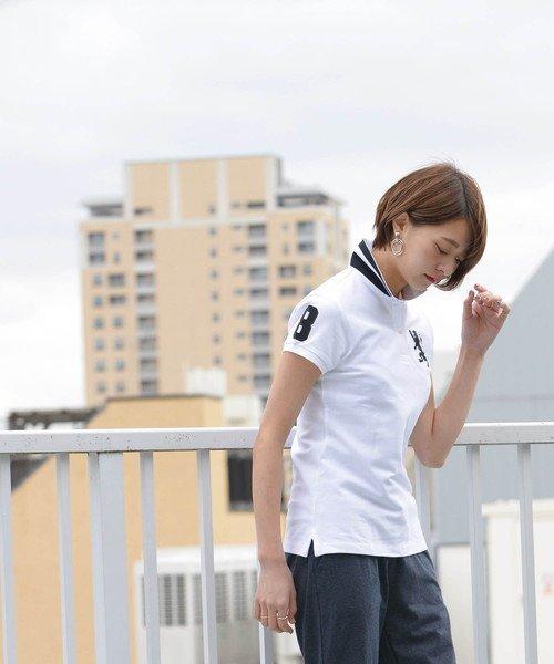 GIORDANOL(ジョルダーノ(レディース))/【ライクラ素材使用】3Dライオン刺繍ポロシャツ/GD18SS05318202_img16