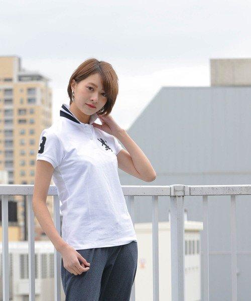 GIORDANOL(ジョルダーノ(レディース))/【ライクラ素材使用】3Dライオン刺繍ポロシャツ/GD18SS05318202_img17