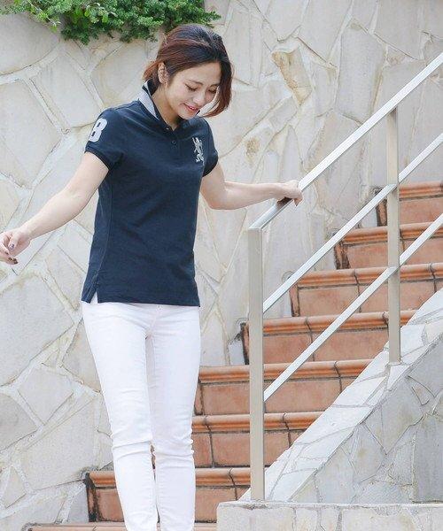 GIORDANOL(ジョルダーノ(レディース))/【ライクラ素材使用】3Dライオン刺繍ポロシャツ/GD18SS05318202_img22