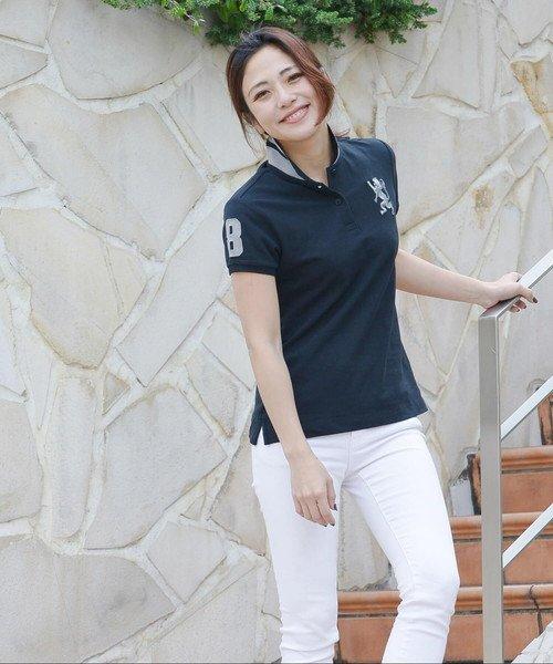 GIORDANOL(ジョルダーノ(レディース))/【ライクラ素材使用】3Dライオン刺繍ポロシャツ/GD18SS05318202_img23