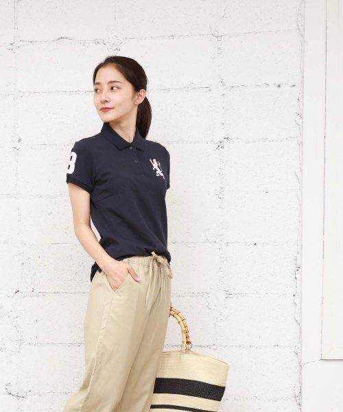 GIORDANOL(ジョルダーノ(レディース))/【ライクラ素材使用】3Dライオン刺繍ポロシャツ/GD18SS05318202_img25