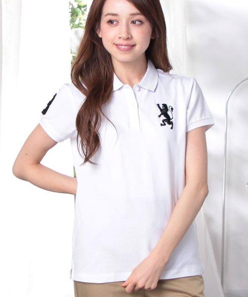 GIORDANOL(ジョルダーノ(レディース))/【ライクラ素材使用】3Dライオン刺繍ポロシャツ/GD18SS05318202_img50