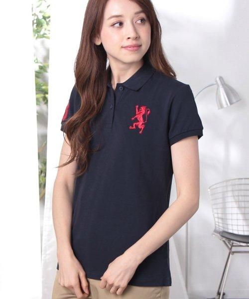 GIORDANOL(ジョルダーノ(レディース))/【ライクラ素材使用】3Dライオン刺繍ポロシャツ/GD18SS05318202_img53