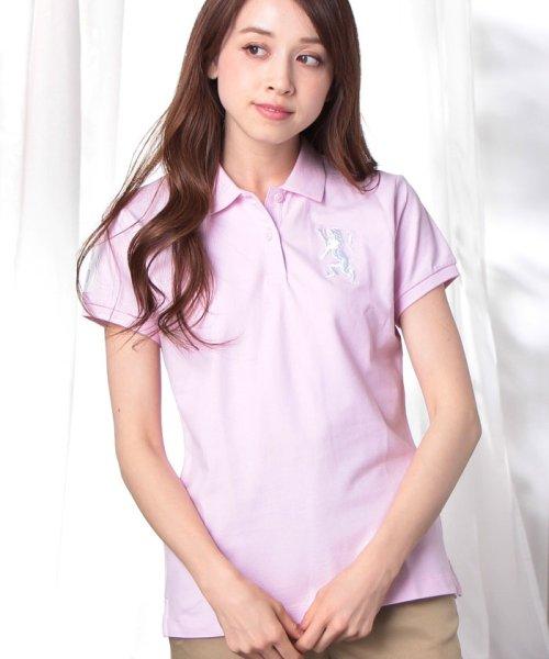 GIORDANOL(ジョルダーノ(レディース))/【ライクラ素材使用】3Dライオン刺繍ポロシャツ/GD18SS05318202_img56