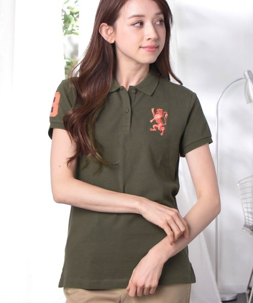 GIORDANOL(ジョルダーノ(レディース))/【ライクラ素材使用】3Dライオン刺繍ポロシャツ/GD18SS05318202_img59