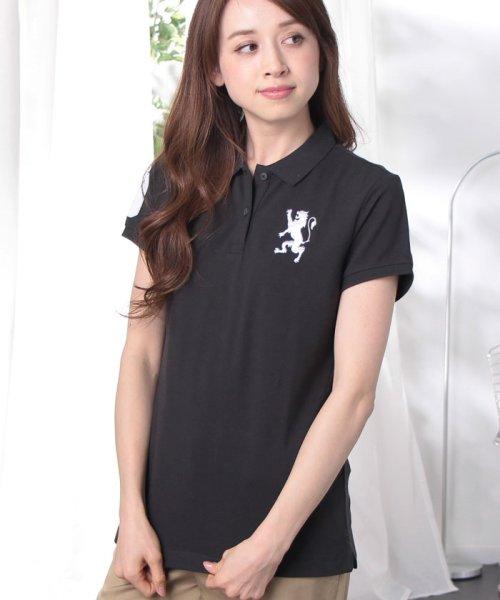 GIORDANOL(ジョルダーノ(レディース))/【ライクラ素材使用】3Dライオン刺繍ポロシャツ/GD18SS05318202_img62