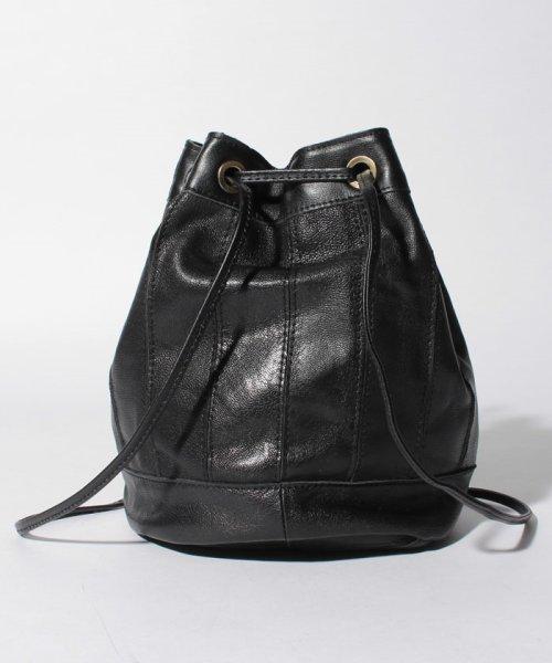 perche(ペルケ)/ペルケ perche / エアリーゴートパッチワーク巾着バッグ/080007640_img02