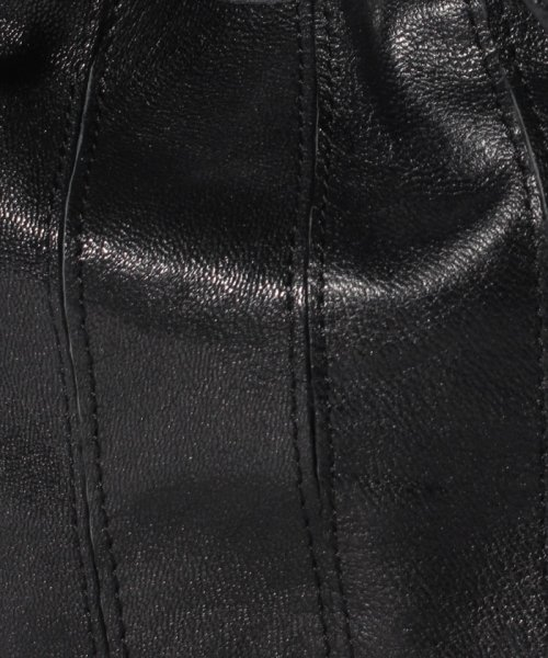 perche(ペルケ)/ペルケ perche / エアリーゴートパッチワーク巾着バッグ/080007640_img04