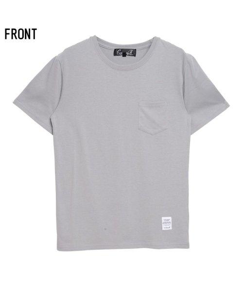 CavariA(キャバリア)/CavariA【キャバリア】ポケット付きクルーネックTシャツ/CARYU16-01_img06