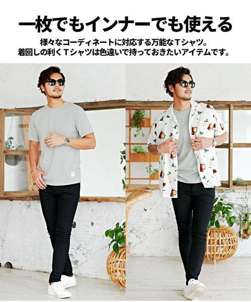CavariA(キャバリア)/CavariA【キャバリア】ポケット付きクルーネックTシャツ/CARYU16-01_img10