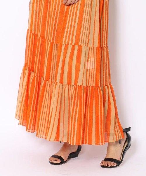 SOULEIADO(SOULEIADO)/クレーププリント ギャザーロングスカート/75058205401_img09
