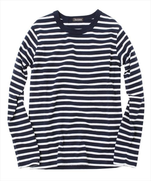 GLAZOS(グラソス)/ボーダー長袖Tシャツ/gl1002_img11