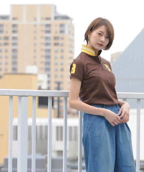 GIORDANOL(ジョルダーノ(レディース))/【ライクラ素材使用】3Dライオン刺繍ポロシャツ/GD18SS05318202_img27