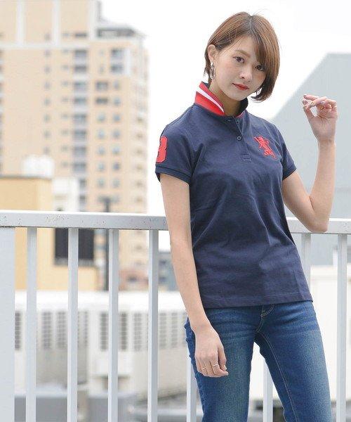 GIORDANOL(ジョルダーノ(レディース))/【ライクラ素材使用】3Dライオン刺繍ポロシャツ/GD18SS05318202_img30