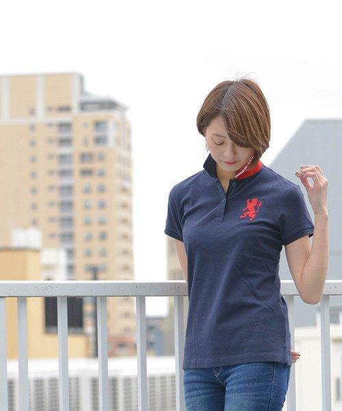 GIORDANOL(ジョルダーノ(レディース))/【ライクラ素材使用】3Dライオン刺繍ポロシャツ/GD18SS05318202_img31