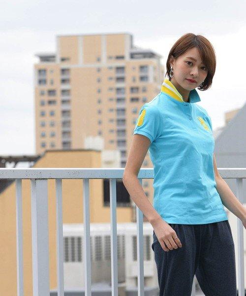 GIORDANOL(ジョルダーノ(レディース))/【ライクラ素材使用】3Dライオン刺繍ポロシャツ/GD18SS05318202_img32