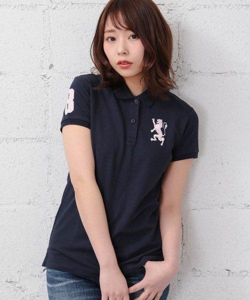 GIORDANOL(ジョルダーノ(レディース))/【ライクラ素材使用】3Dライオン刺繍ポロシャツ/GD18SS05318202_img51