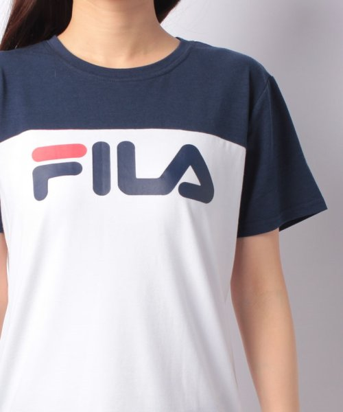 FILA(フィラ)/FILAロゴ切替Tシャツ/418602_img03