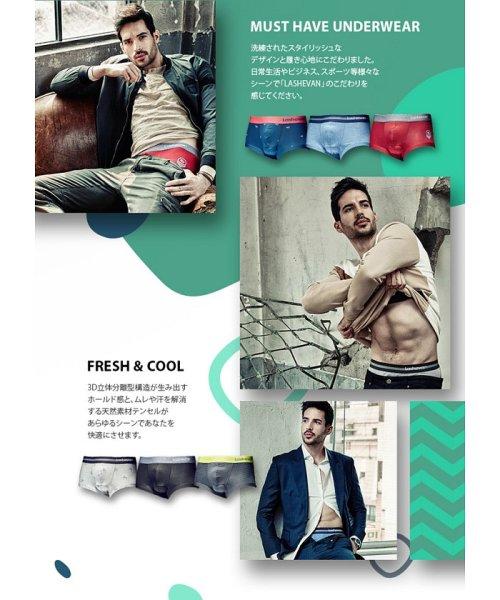 LASHEVAN(ラシュバン)/LASHEVAN【ラシュバン】Men's Underwear Drawers Light Grey/LS0117-LGY_img02