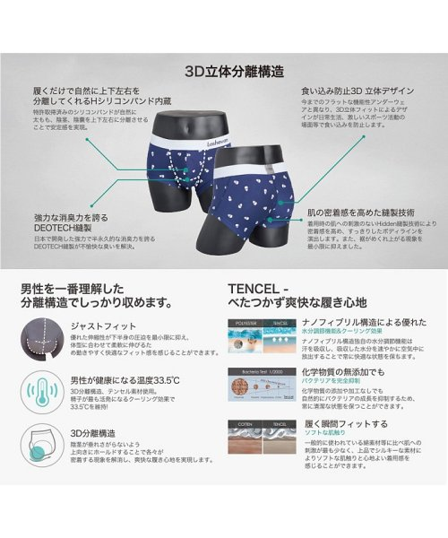 LASHEVAN(ラシュバン)/LASHEVAN【ラシュバン】Men's Underwear Drawers Light Grey/LS0117-LGY_img03