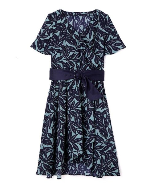 PROPORTION BODY DRESSING(プロポーション ボディドレッシング)/リーフプリントシャツワンピース/1218140401_img18