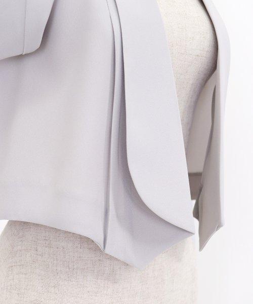 3be31c6269bba BLUEEAST(ブルーイースト) ≪結婚式 二次会 パーティー≫ドレープ衿ショールカラー