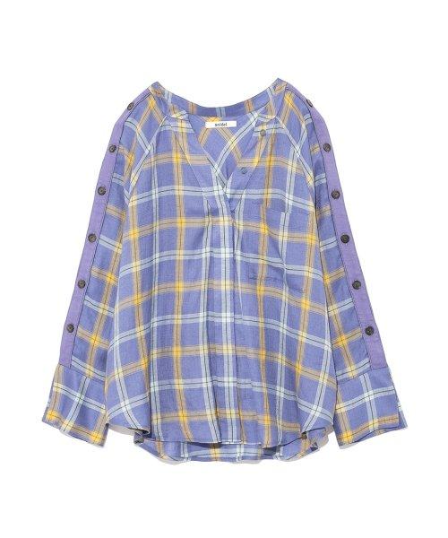 SNIDEL(スナイデル)/サイドボタンチェックシャツ/SWFB182075_img01