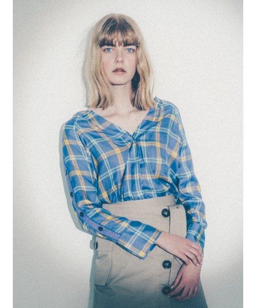 SNIDEL(スナイデル)/サイドボタンチェックシャツ/SWFB182075_img10