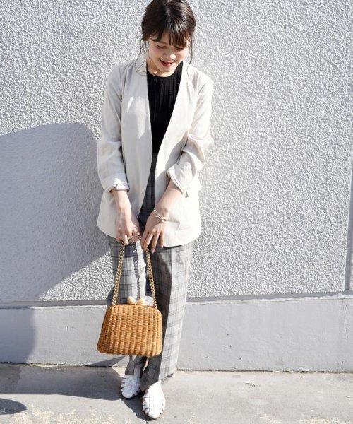 SHIPS WOMEN(シップス ウィメン)/【TVドラマ着用】リネンレーヨン羽織りジャケット/317010869_img16