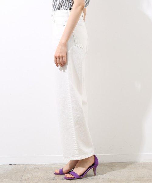ROPE' mademoiselle(ロペ マドモアゼル)/【otonaMUSE 5月号掲載】ホワイトデニムストーンバイオワイドパンツ/GWS4814_img02