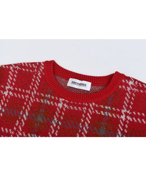 DISCOVERED(DISCOVERED)/Check line sweater/DCAW18KN03_img02