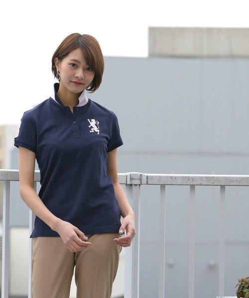 GIORDANOL(ジョルダーノ(レディース))/【ライクラ素材使用】3Dライオン刺繍ポロシャツ/GD18SS05318202_img35