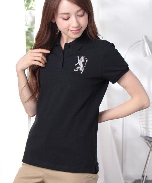 GIORDANOL(ジョルダーノ(レディース))/【ライクラ素材使用】3Dライオン刺繍ポロシャツ/GD18SS05318202_img49