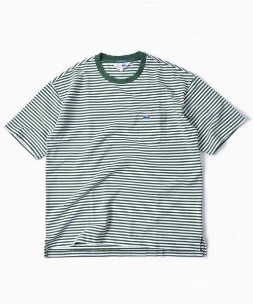 SHIPS MEN(シップス メン)/LACOSTE: 別注 ドロップテイル ビッグ ポケット Tシャツ/112115024_img01