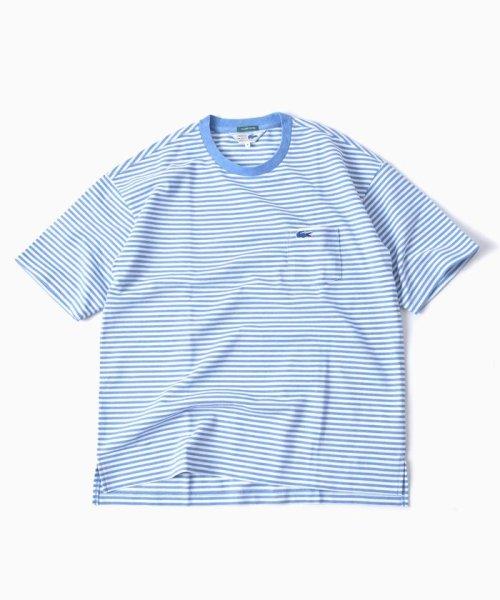 SHIPS MEN(シップス メン)/LACOSTE: 別注 ドロップテイル ビッグ ポケット Tシャツ/112115024_img02