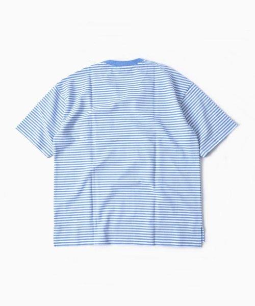 SHIPS MEN(シップス メン)/LACOSTE: 別注 ドロップテイル ビッグ ポケット Tシャツ/112115024_img03