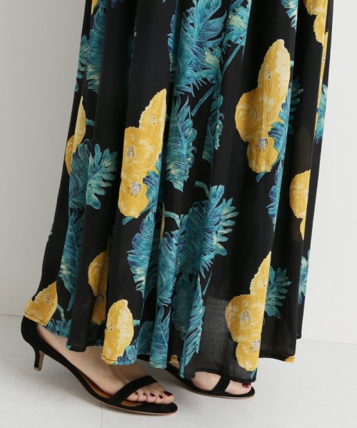 Spick & Span(スピック&スパン)/オオバナプリントギャザースカート3◆/18060200700030_img21