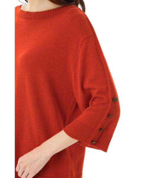 NATURAL BEAUTY(ナチュラル ビューティー)/[ウォッシャブル]袖釦ボートネックニット/0188170404_img10