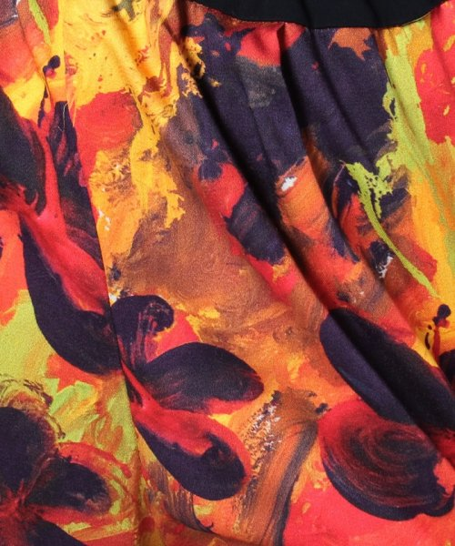 セール midiumisolid flower paint print f l pt 500901628