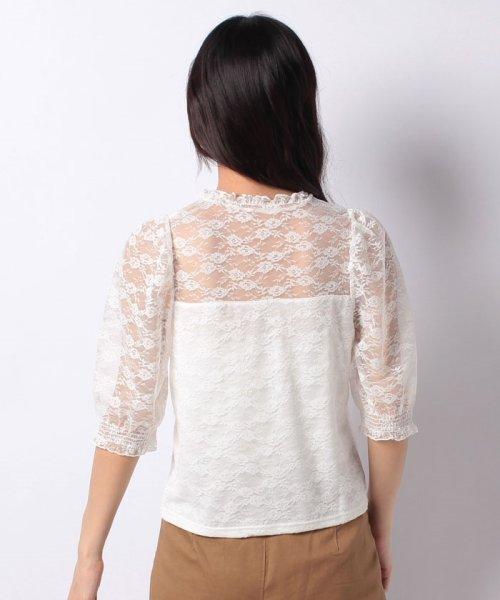 WEGO(ウィゴー)/WEGO/パフスリーブレース5分袖Tシャツ/BS18SM04L020_img14