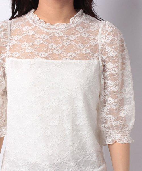 WEGO(ウィゴー)/WEGO/パフスリーブレース5分袖Tシャツ/BS18SM04L020_img15