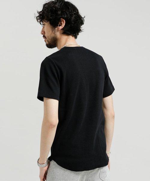 nano・universe(ナノ・ユニバース)/ワッフルラウンドTシャツ S/S/6688123035_img01