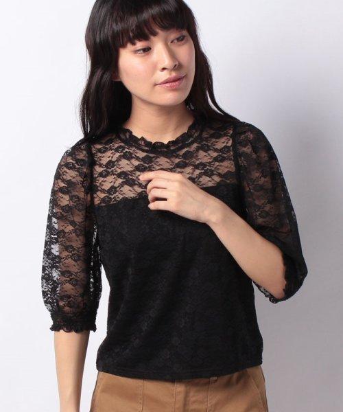 WEGO(ウィゴー)/WEGO/パフスリーブレース5分袖Tシャツ/BS18SM04L020_img17