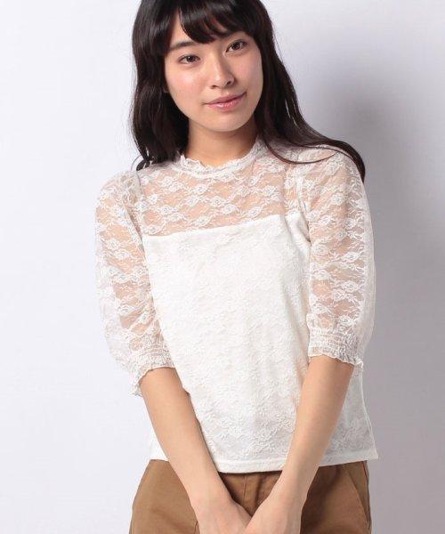 WEGO(ウィゴー)/WEGO/パフスリーブレース5分袖Tシャツ/BS18SM04L020_img18