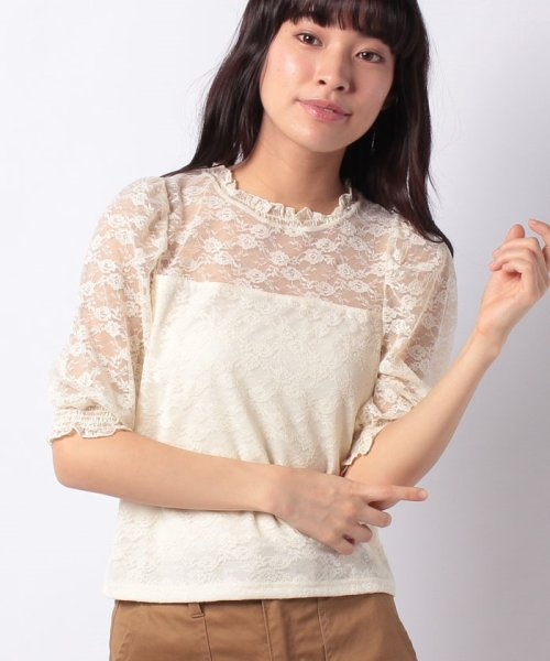 WEGO(ウィゴー)/WEGO/パフスリーブレース5分袖Tシャツ/BS18SM04L020_img19