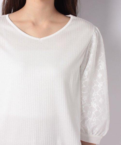 B donna(ビドンナ)/フラワーチュールシャツ/6082203_img03