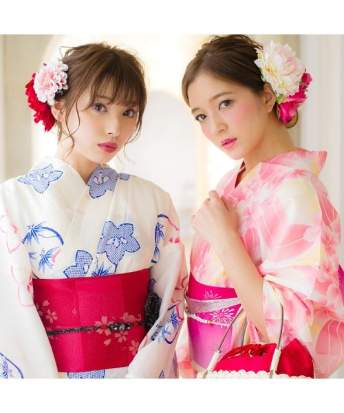 Dita(ディータ)/Dita【ディータ】1人で簡単に着られる作り帯の可愛い女性浴衣 4点フルセット(ゆかた・作り帯・下駄・着付けカタログ)/dl-2013yukata4_img19