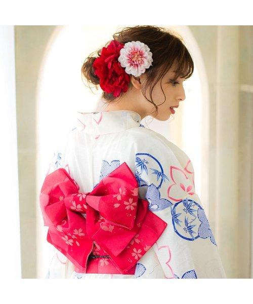 Dita(ディータ)/Dita【ディータ】1人で簡単に着られる作り帯の可愛い女性浴衣 4点フルセット(ゆかた・作り帯・下駄・着付けカタログ)/dl-2013yukata4_img21